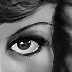 Painting practice, Joan Crawford